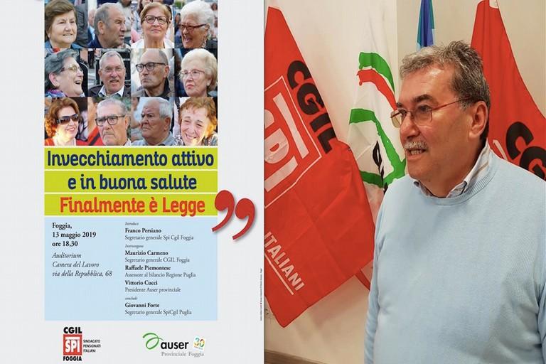 Franco Pisano segreteria SPI CGIL Foggia