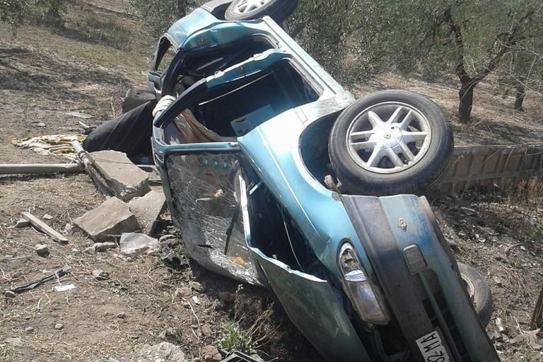 Grave incidente sulla S.P. 69 che conduce a Borgo tressanti. Un morto ed un ferito.