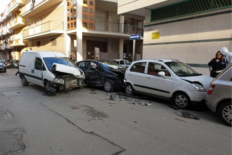 Incidente stradale a Cerignola quartiere Scarafone