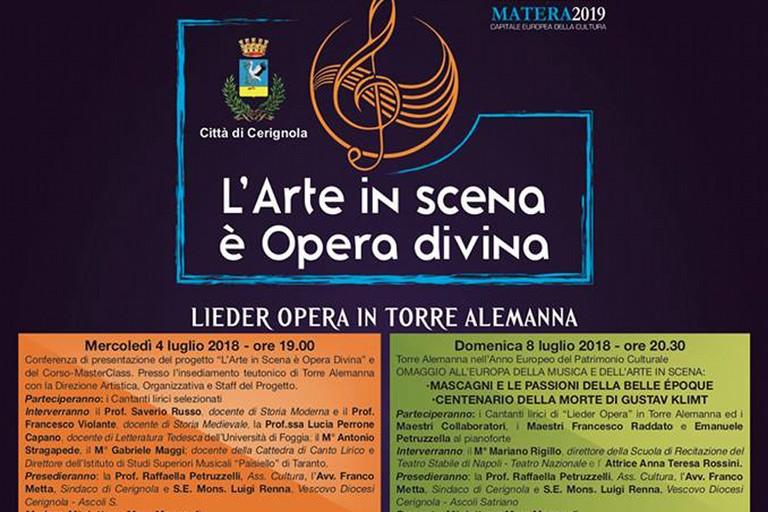 Lieder opera in Torre Alemanna