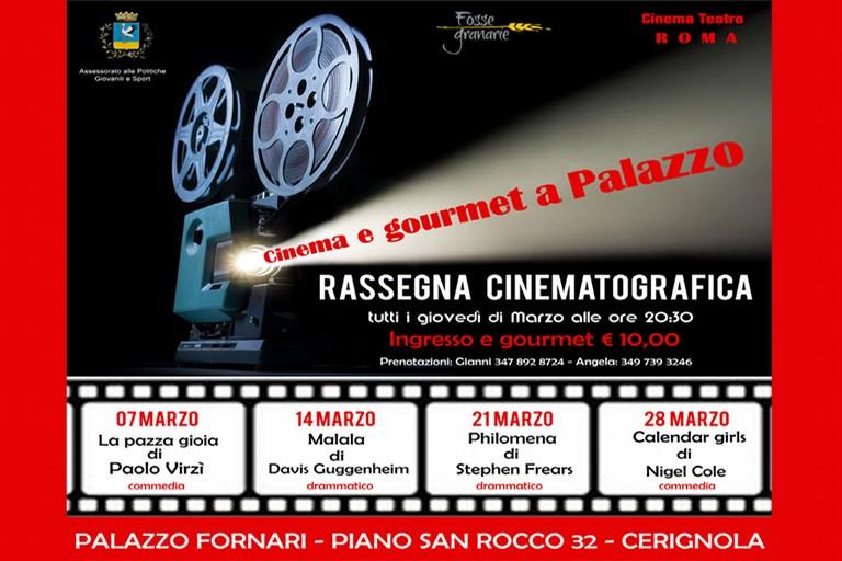 Cinema e Gourmet a Palazzo