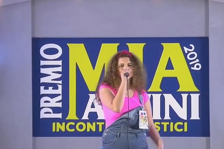 Mikela Larovere al Premio Mia Martini