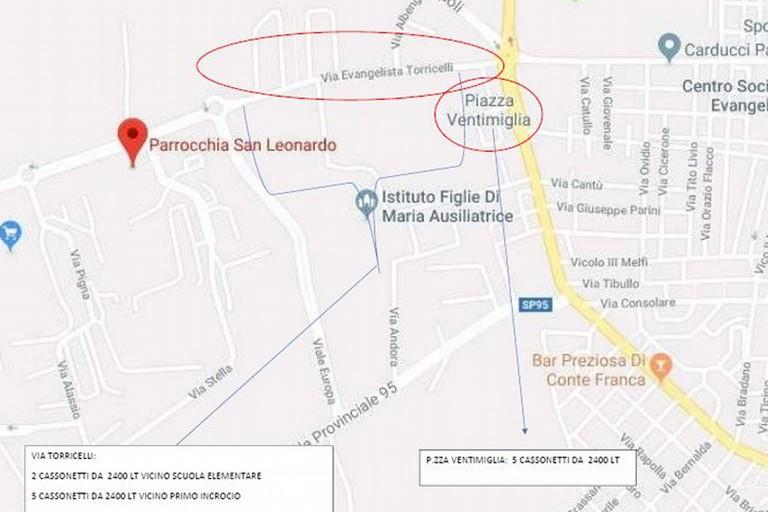 Planimetri lavori Piazza Ventimiglia