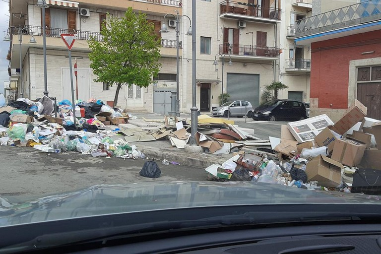 Rifiuti abbandonati per strada a Cerignola. <span>Foto Ambientiamo Cerignola</span>