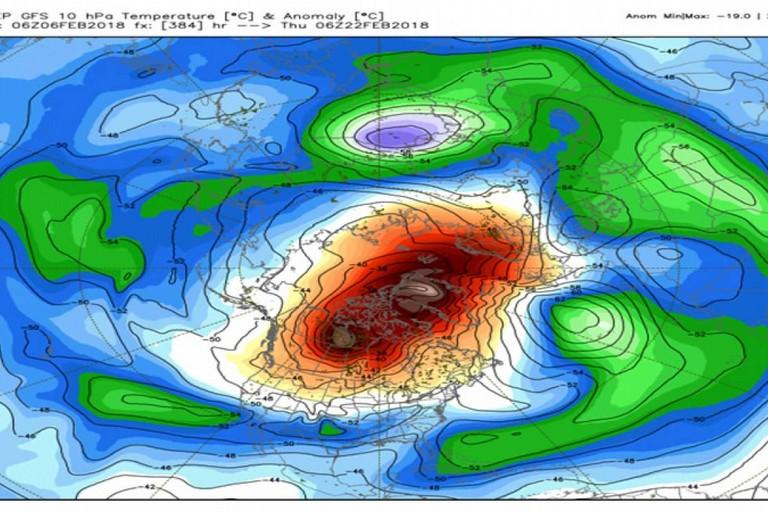 riscaldamento stratosferico avvero notevole bmeteo