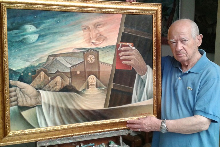 Papa francesco nei dipinti di Delvecchio