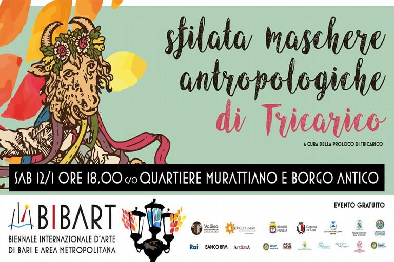 BIBART - Biennale Internazionale d'Arte di Bari e Area Metropolitana accoglie l'arrivo del carnevale con i colori ed i suoni delle Maschere Antropologiche di Tricarico