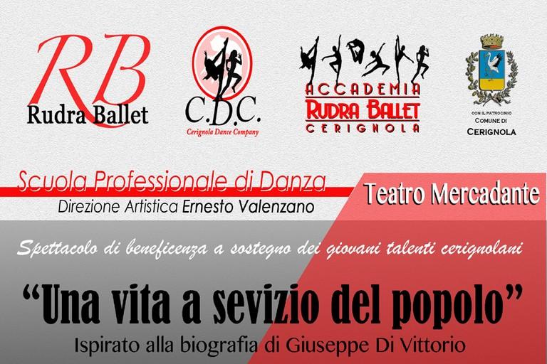 """""""Cerignola Dance Company"""" presenta """"Una vita al servizio del popolo"""""""