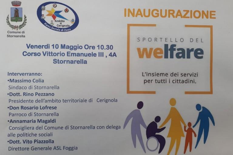 Sportello Welfare a Stornarella