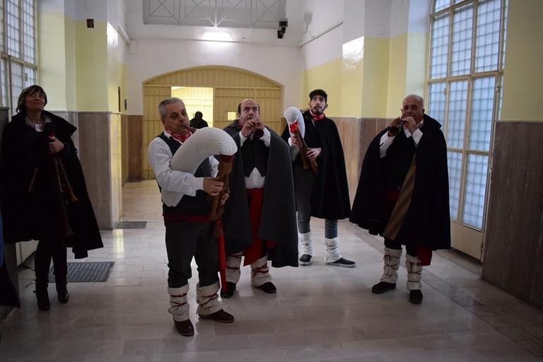 Zampognari nel carcere di Lucera